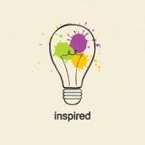 Light bulb. Inspired Royalty Free Stock Image