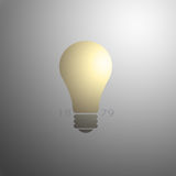 Light Bulb with Invention Date. A soft shaded background helps accent a light bulb which was invented by Thomas Edison in 1879 royalty free illustration