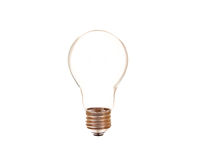 Light bulb isolated Stock Photos
