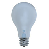 Light bulb, isolated Royalty Free Stock Image