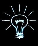 Light bulb isolated on black Stock Photos