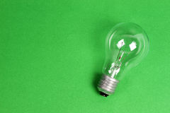 Light bulb isolated. Royalty Free Stock Images