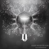 Light Bulb isolated. Illustration. Stock Image