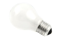 Light bulb isolated on white Stock Images