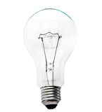 Light Bulb Isolated White Stock Image