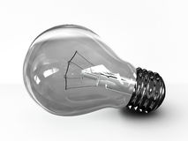 Light bulb isolated on white background. 3D. Image Royalty Free Stock Photo