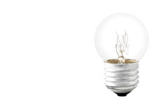 Light bulb isolated on white Stock Image
