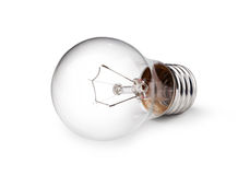 Light bulb. Isolated on a white bakground Stock Images