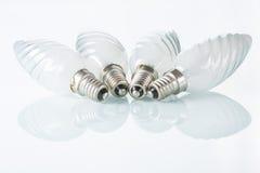 Light bulb isolated on white,  Realistic photo Stock Photos