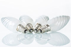 Light bulb isolated on white,  Realistic photo Stock Image