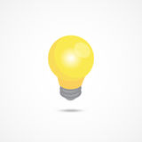 Light bulb isometric icon 3d vector illustration Royalty Free Stock Photography