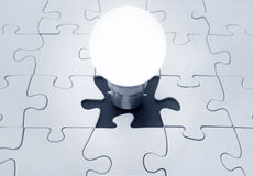 Light bulb jigsaw Stock Photography