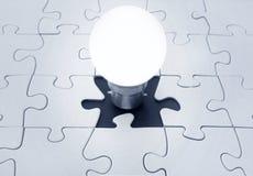 Light bulb jigsaw stock photography