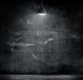 Light bulb lamp on blackboard background Stock Photo