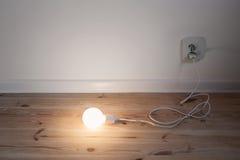Light bulb lamp on  floor Stock Photography