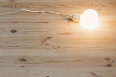 Light bulb lamp on floor Stock Photos