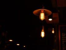 Light bulb lamp in the night Stock Photos