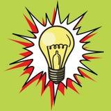 Light bulb lamp pop art style vector Stock Image