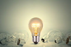 Light bulb lamps. On background Stock Photo