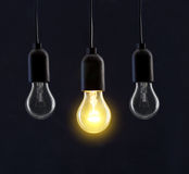 Light bulb lamps Royalty Free Stock Images