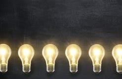 Light bulb lamps Stock Photo