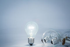Light bulb lamps Stock Image
