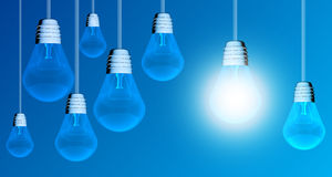 Light bulb lamps Stock Images
