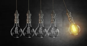 Light bulb lamps. 3D rendering Royalty Free Stock Image