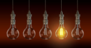Light bulb lamps. 3D rendering Stock Images