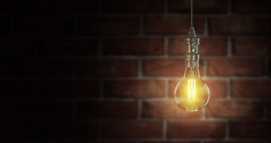 Light bulb lamps. 3D rendering Royalty Free Stock Photos