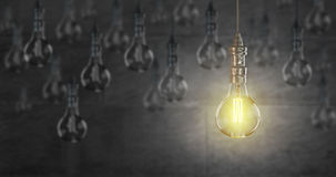 Light bulb lamps. 3D rendering. Light bulb lamps on a colour background. 3D rendering Stock Photography