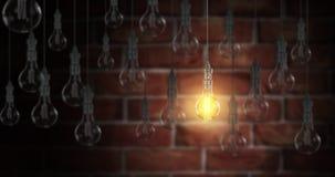 Light bulb lamps. 3D rendering Stock Image