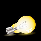 Light bulb lean Royalty Free Stock Photography