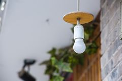 A light bulb. In the outdoors Stock Images