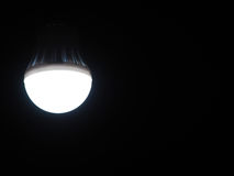 Light bulb. The light bulb is lighted up at night Royalty Free Stock Image