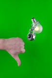 Light bulb with lock Royalty Free Stock Images
