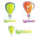 Light bulb logo Stock Photography