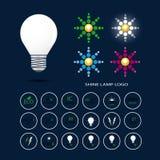 Lamp shining logo Royalty Free Stock Photo