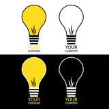 Light bulb logos Stock Images