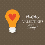 Light bulb with love heart Stock Photography