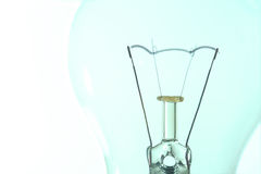 Light bulb macro with the filament wire and construction artisti Stock Photo
