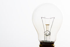 Light bulb macro with the filament wire. And construction in artistic conversion Stock Photography