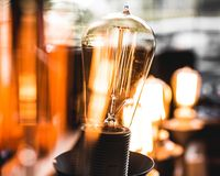Light Bulb in Macro Shot Photography Royalty Free Stock Photos