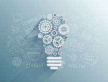 Light bulb made of cogs and wheels vector Stock Image