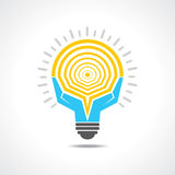 Light-bulb made by hands Royalty Free Stock Photo