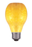 Light bulb made out of a pear - concept of green energy Stock Images