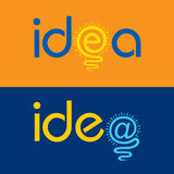 Light bulb make idea text concept Royalty Free Stock Photo