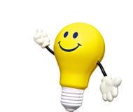 Light bulb man. Idea yellow light bulb man Royalty Free Stock Image