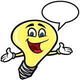 Light bulb Mascot Royalty Free Stock Images
