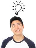 Light Bulb Moment Stock Image